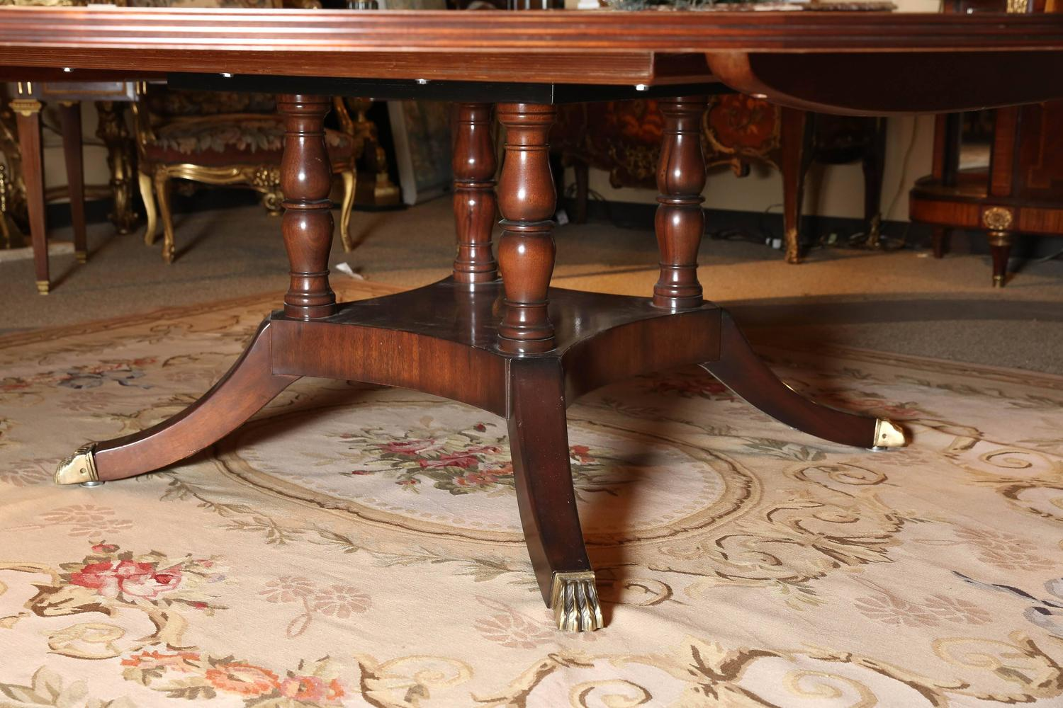 Custom made extra wide round dining table for sale at 1stdibs for Unique round dining room tables