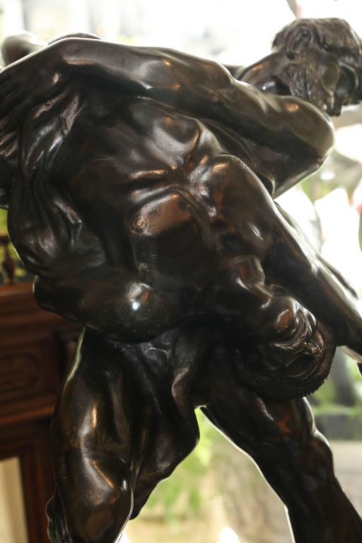 Belgian Olympians Bronze Sculpture by Jef Lambeaux For Sale