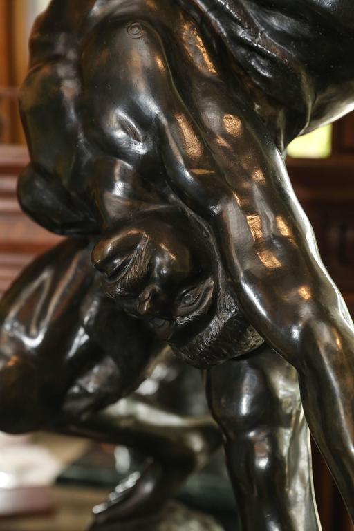 19th Century Olympians Bronze Sculpture by Jef Lambeaux For Sale