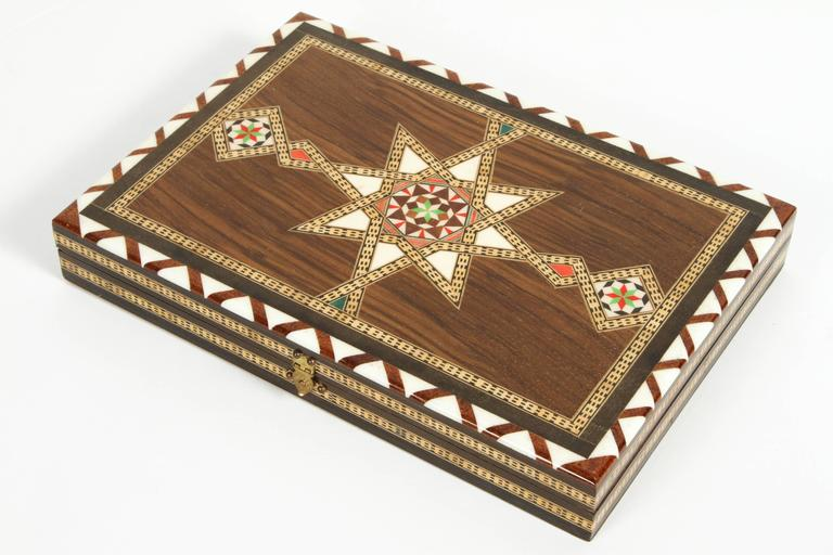 middle eastern syrian inlaid backgammon game 3 - Backgammon Game