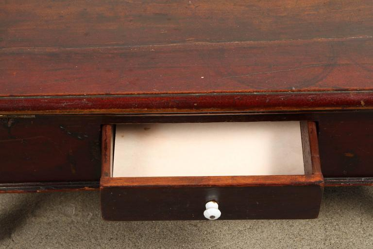 American 19th Century Victorian Mahogany Dressing Table Mirror with Jewelry Chest For Sale