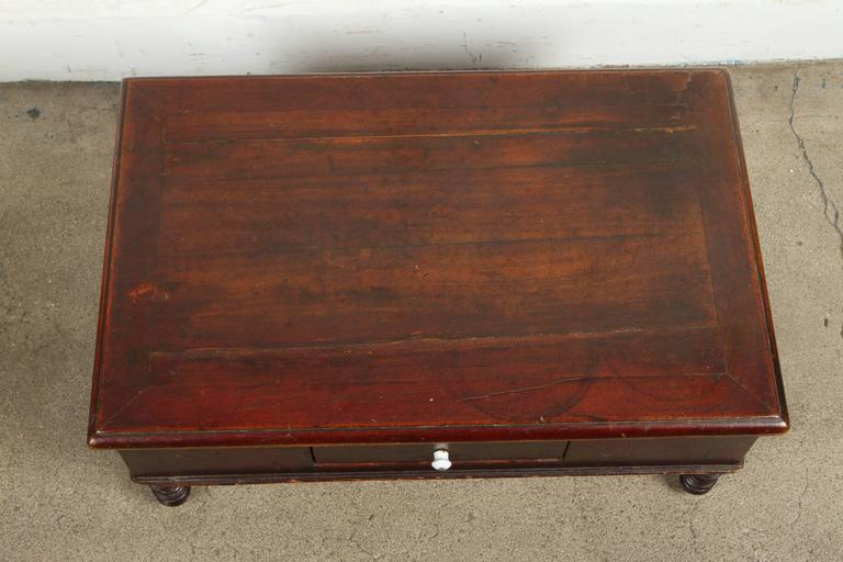 Stained 19th Century Victorian Mahogany Dressing Table Mirror with Jewelry Chest For Sale