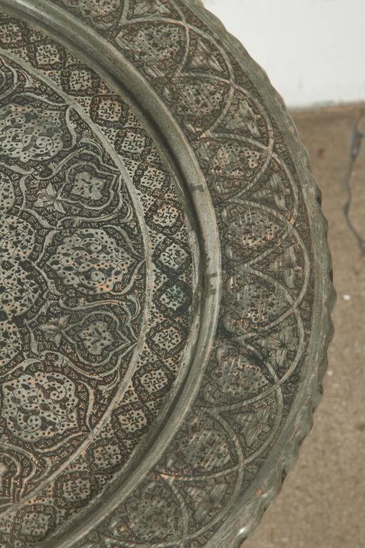 Antique Persian Copper Tray Side Table For Sale At 1stdibs