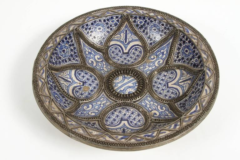 Large Decorative Ceramic Plates From Fez For Sale At 1stdibs