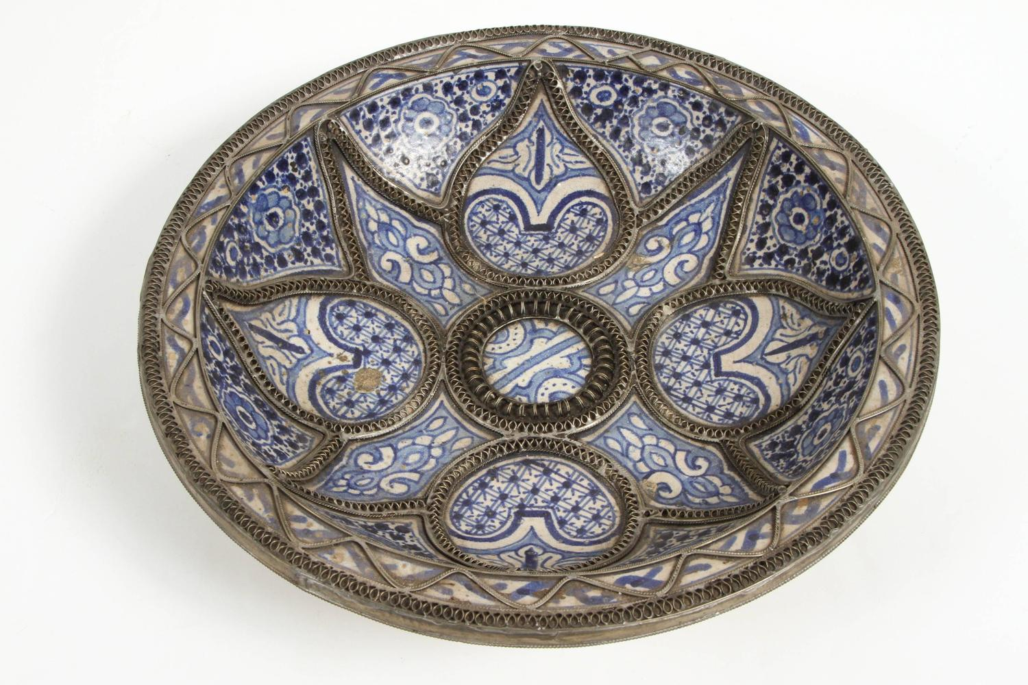 decorative ceramic plates wall mounted large decorative ceramic plates from fez at 1stdibs