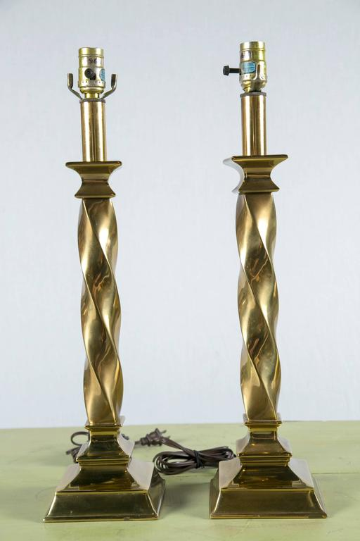 American Pair of Stiffel Lamps For Sale
