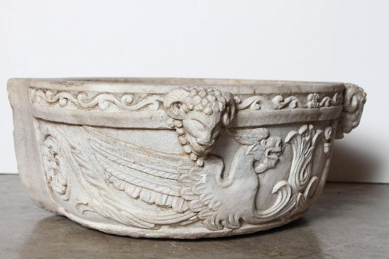 Carved Italian Marble Stoup or Sink, circa 1800 at 1stdibs