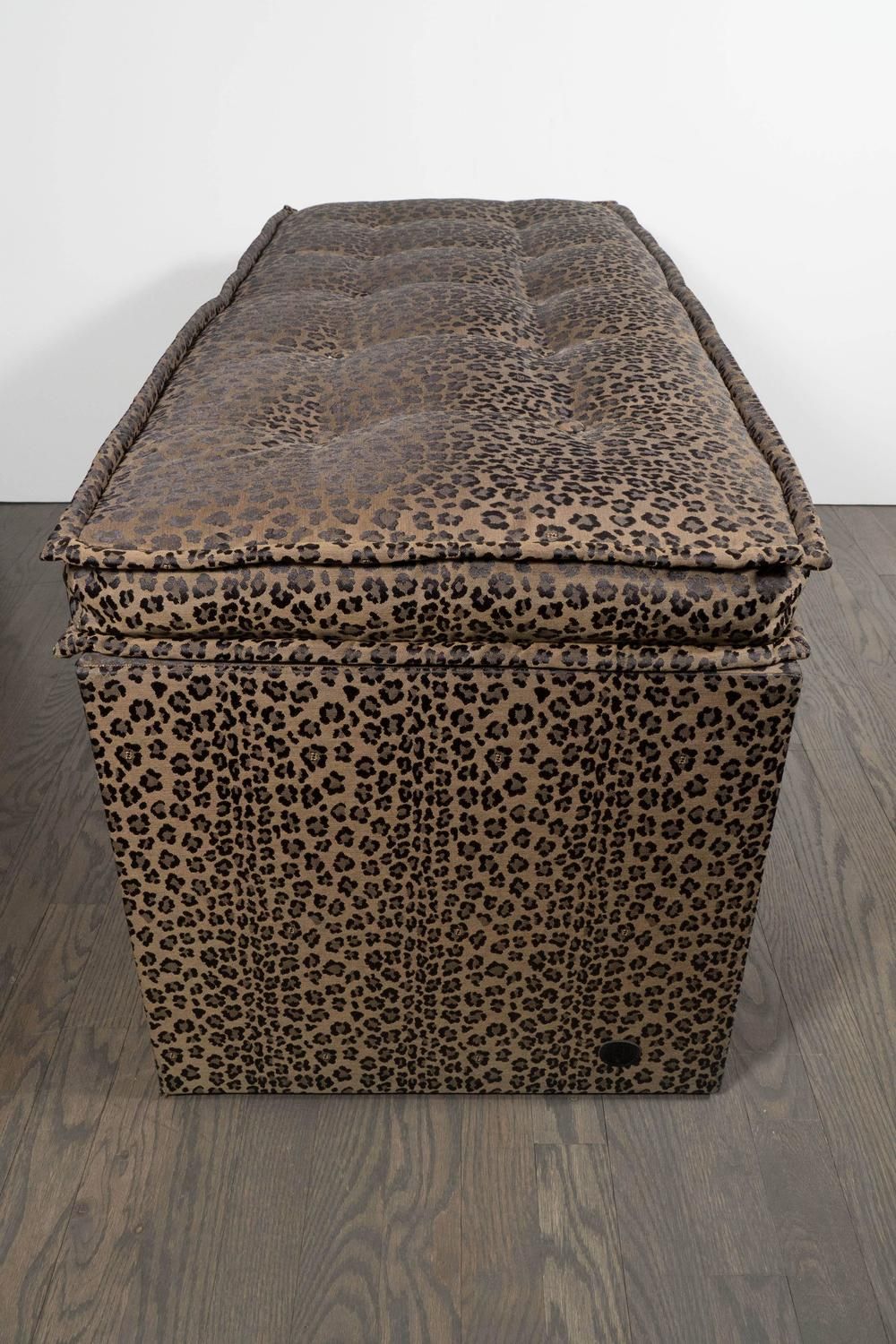 Ultra chic fendi casa bench with original fendi leopard Leopard print bench