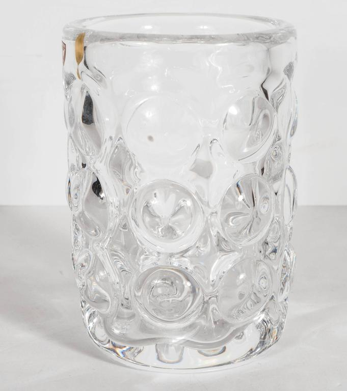 Gorgeous Mid-Century Modernist Handblown Vase by Orrefors of Sweden In Excellent Condition For Sale In New York, NY