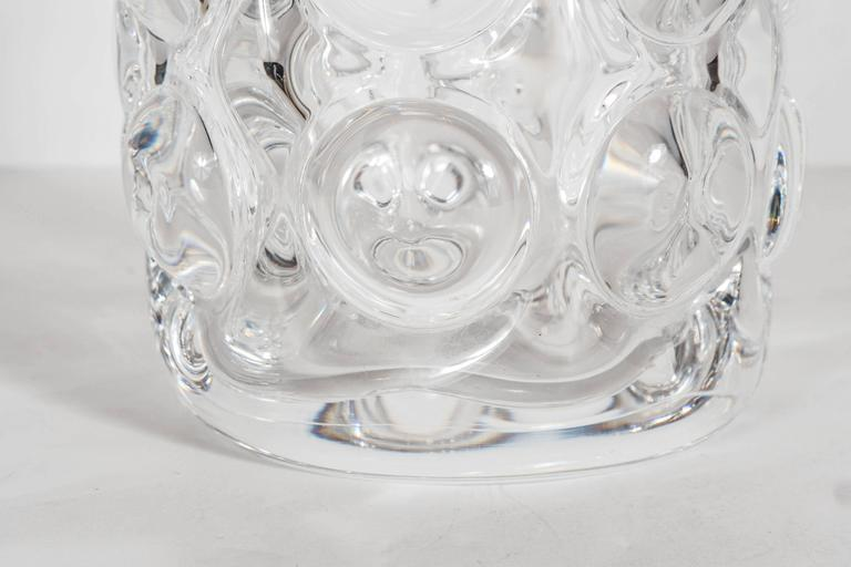 Mid-20th Century Gorgeous Mid-Century Modernist Handblown Vase by Orrefors of Sweden For Sale