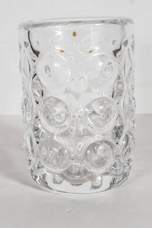 Glass Gorgeous Mid-Century Modernist Handblown Vase by Orrefors of Sweden For Sale