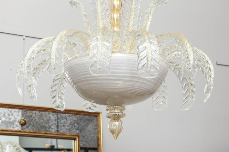Murano Glass Art Deco Murano Chandelier For Sale
