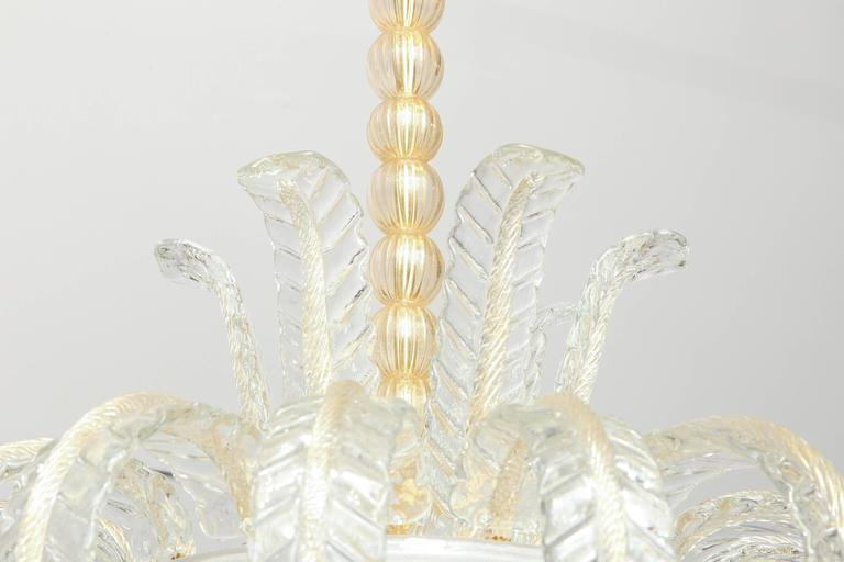 Art Deco Murano Chandelier For Sale 1
