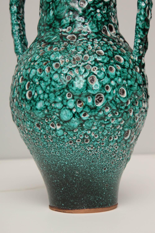 Art Pottery Vase Or Urn Glazed Emerald Green For Sale At 1stdibs