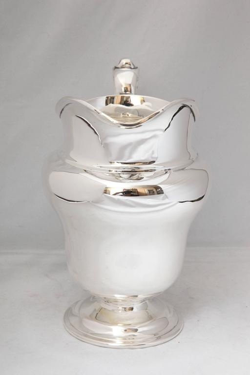 American Art Nouveau Sterling Silver Water Pitcher For Sale