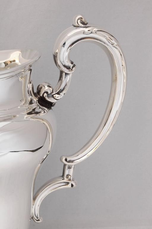 Art Nouveau Sterling Silver Water Pitcher For Sale 1