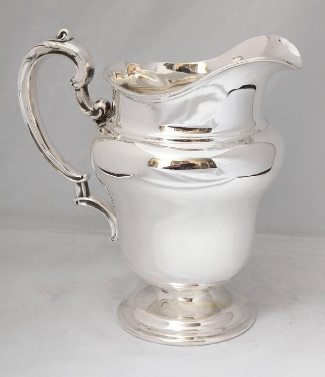 Art Nouveau Sterling Silver Water Pitcher For Sale 2