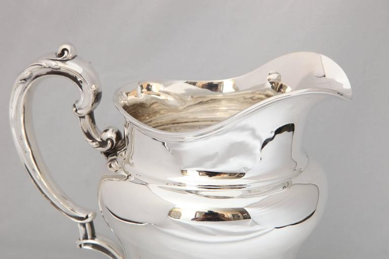 Art Nouveau Sterling Silver Water Pitcher For Sale 3