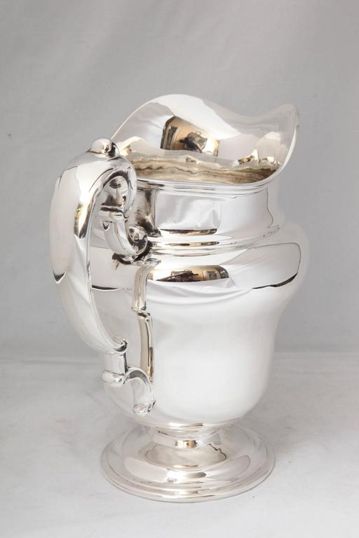 Art Nouveau Sterling Silver Water Pitcher For Sale 4