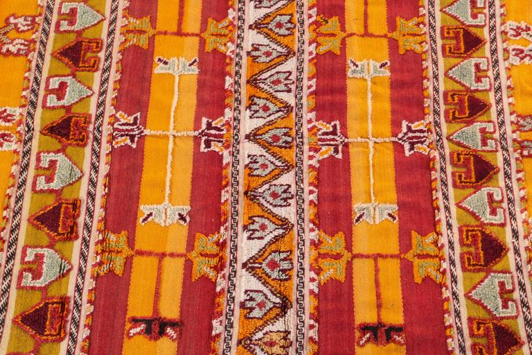 Bohemian Moroccan Vintage Tribal Rug For Sale