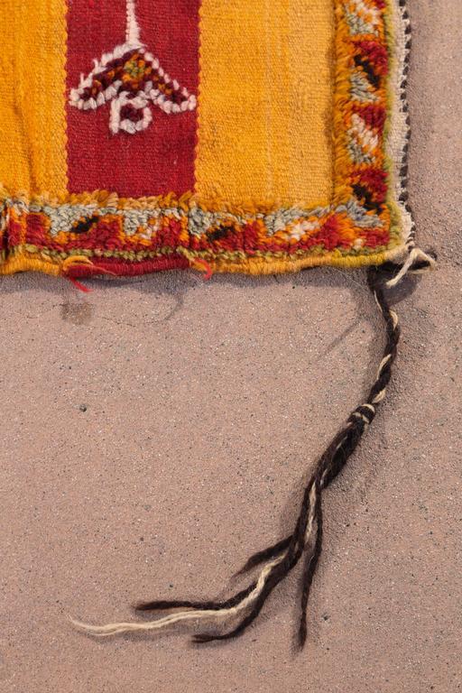 Hand-Woven Moroccan Vintage Tribal Rug For Sale