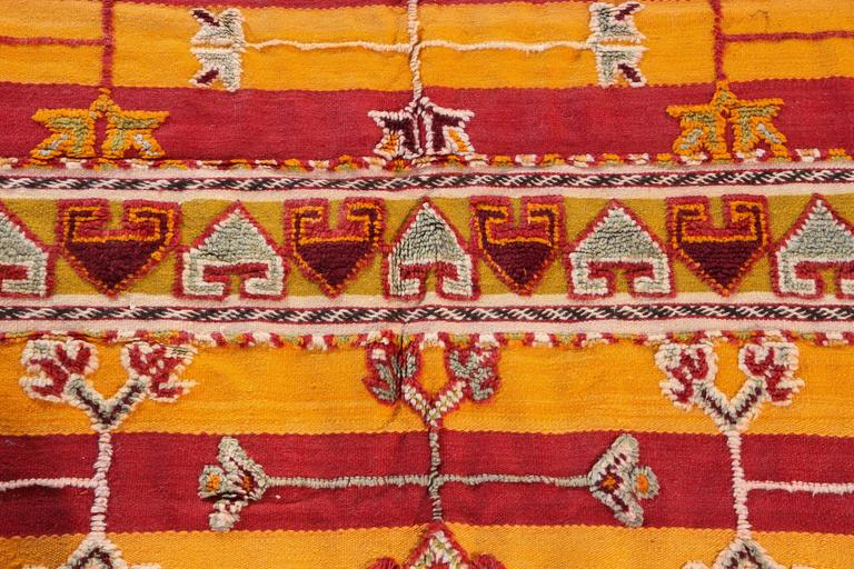 20th Century Moroccan Vintage Tribal Rug For Sale