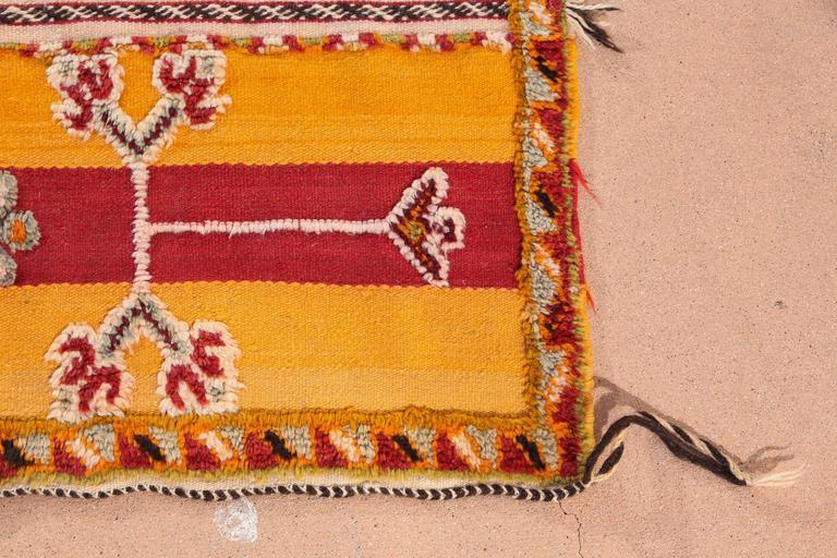Wool Moroccan Vintage Tribal Rug For Sale
