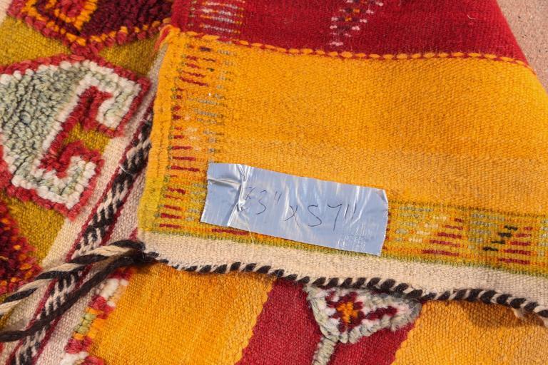 Moroccan Vintage Tribal Rug For Sale 1