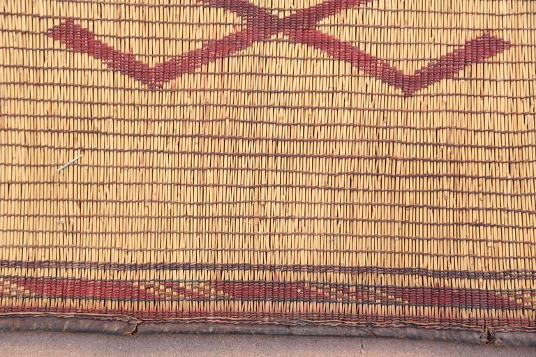 Vintage Moroccan Leather Tuareg Rug North Africa In Good Condition In North Hollywood, CA