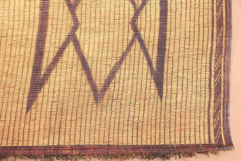 20th Century Vintage Moroccan Leather Tuareg Rug North Africa