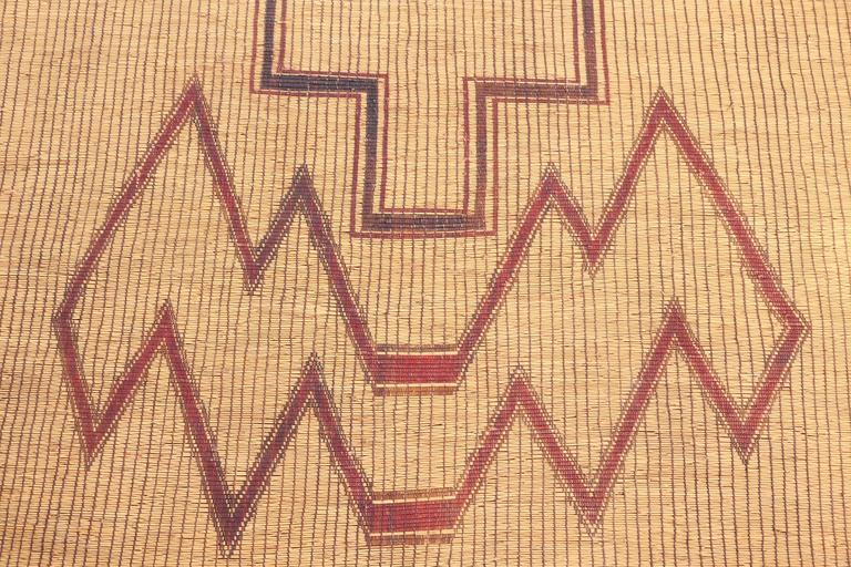 Vintage Moroccan Leather Tuareg Rug North Africa 1