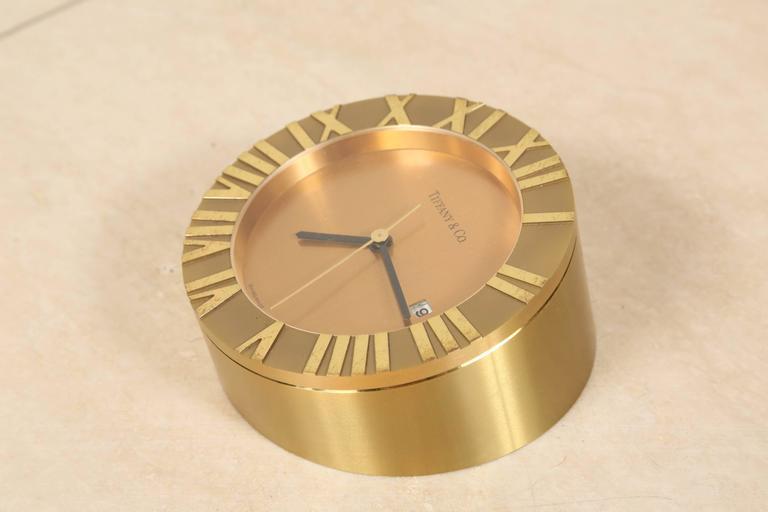 Tiffany & Co Brass Desk Clock 3