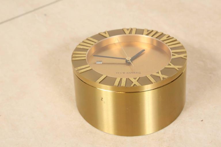 Tiffany & Co Brass Desk Clock 4