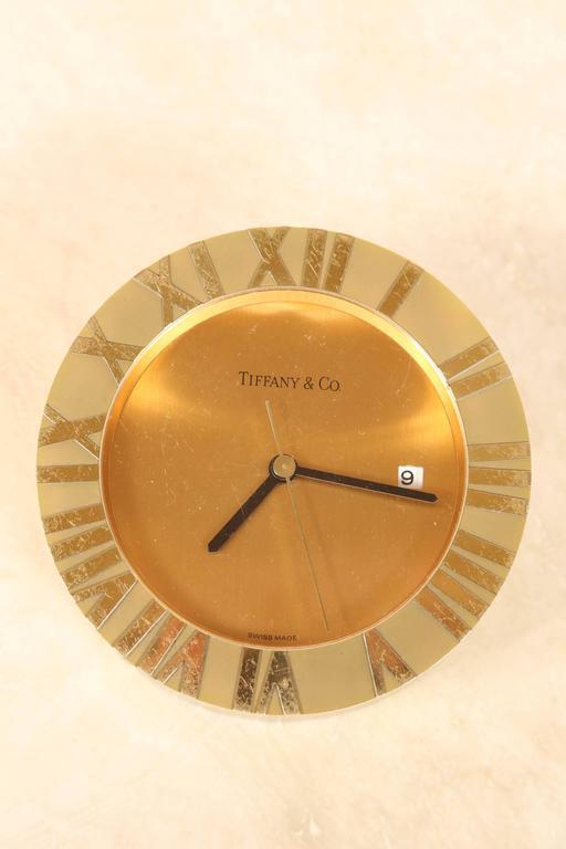 Tiffany & Co Brass Desk Clock 5