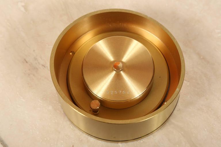 Tiffany & Co Brass Desk Clock 6