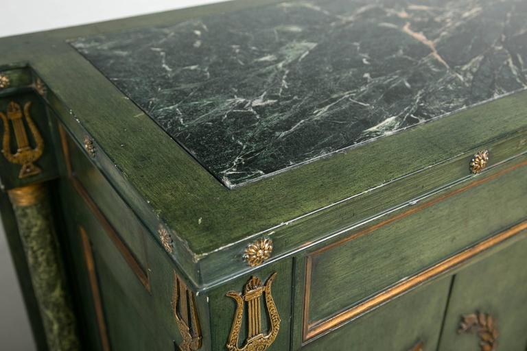 Monumental Italian Neoclassical Style Paint Decorated Marble-Top Console 3