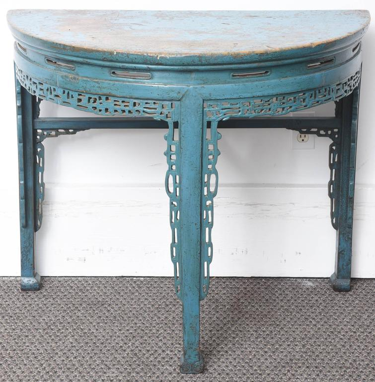 Half Round Console Table 19th century chinese hand-painted half round console table at 1stdibs