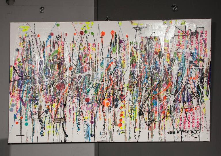 Born in England in 1977, Oliver Shaw grew up on the South Downs around Brighton and started painting and making things at a young age. His original abstract art paintings and mixed-media assemblages have been exhibited in London, New York,