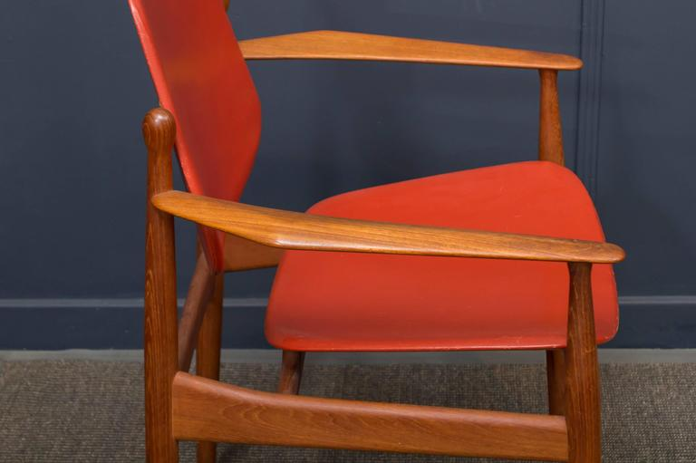 Arne Vodder FD-184 Armchair In Good Condition For Sale In San Francisco, CA
