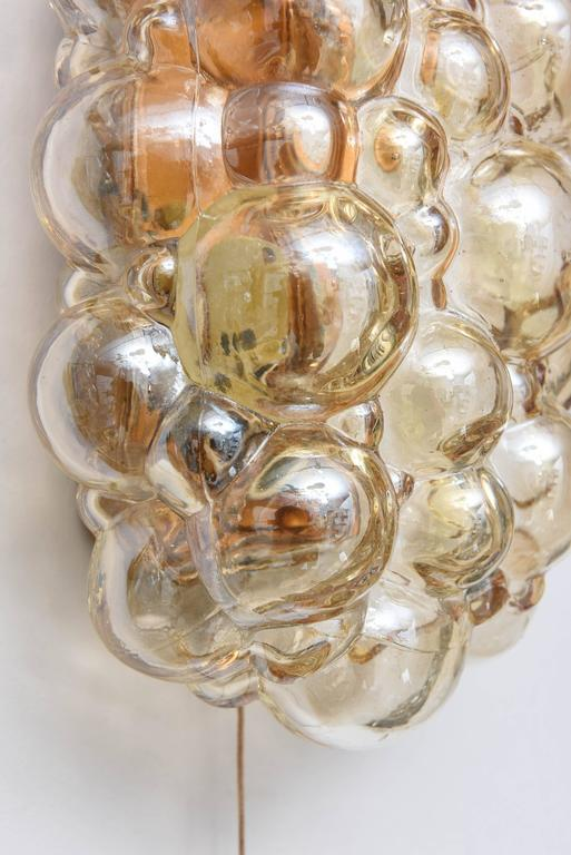 Pair Of Mid Century Modern Quot Bubble Glass Quot Wall Sconces