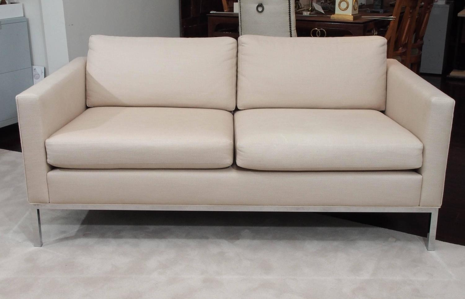 Knoll Style Two Seat Upholstered Sofa For Sale at 1stdibs