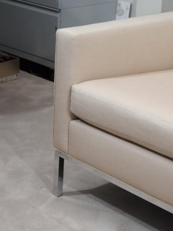 Knoll Style Two-Seat Upholstered Sofa 5