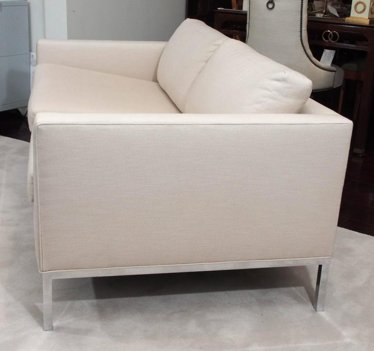 Knoll Style Two-Seat Upholstered Sofa 6