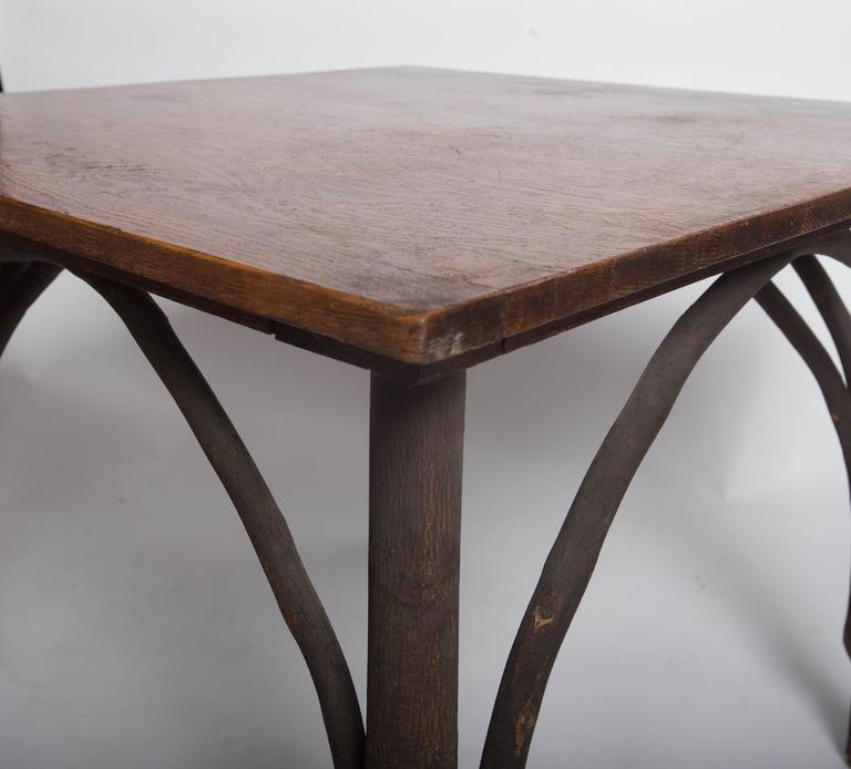 Adirondack Coffee Table Set: Antique Adirondack Old Hickory Table And Chairs For Sale