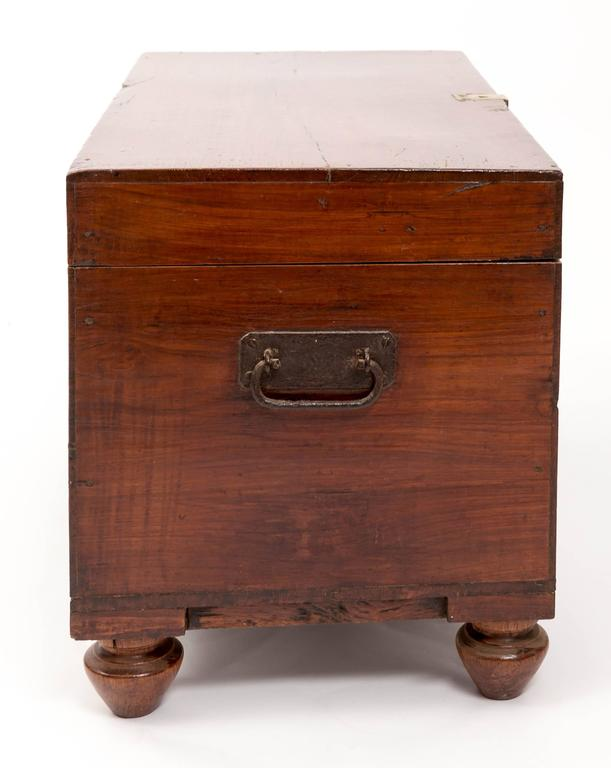 19th Century Anglo-Indian Teak Trunk, India, circa 1870 In Excellent Condition For Sale In East Hampton, NY