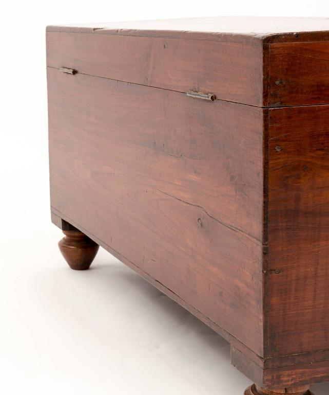 Brass 19th Century Anglo-Indian Teak Trunk, India, circa 1870 For Sale
