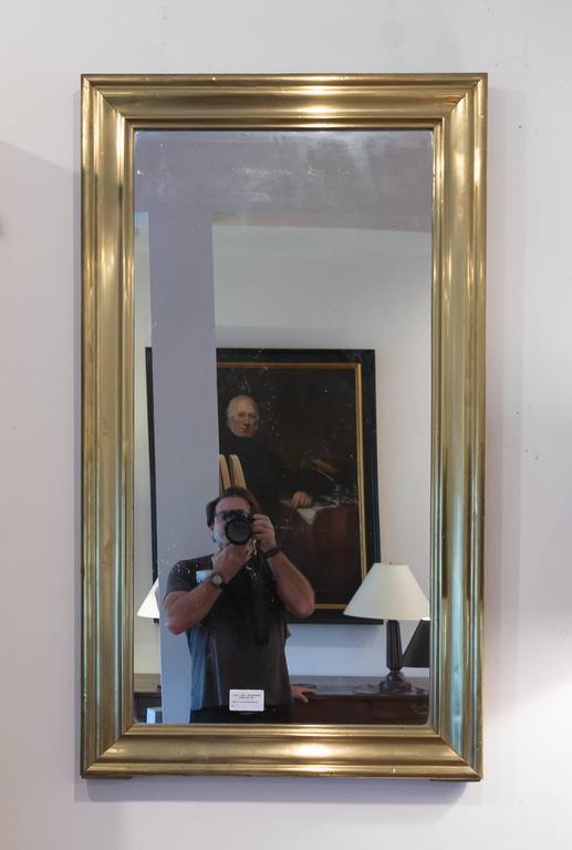 19th Century Brass Bistro Mirror, France, circa 1860 2