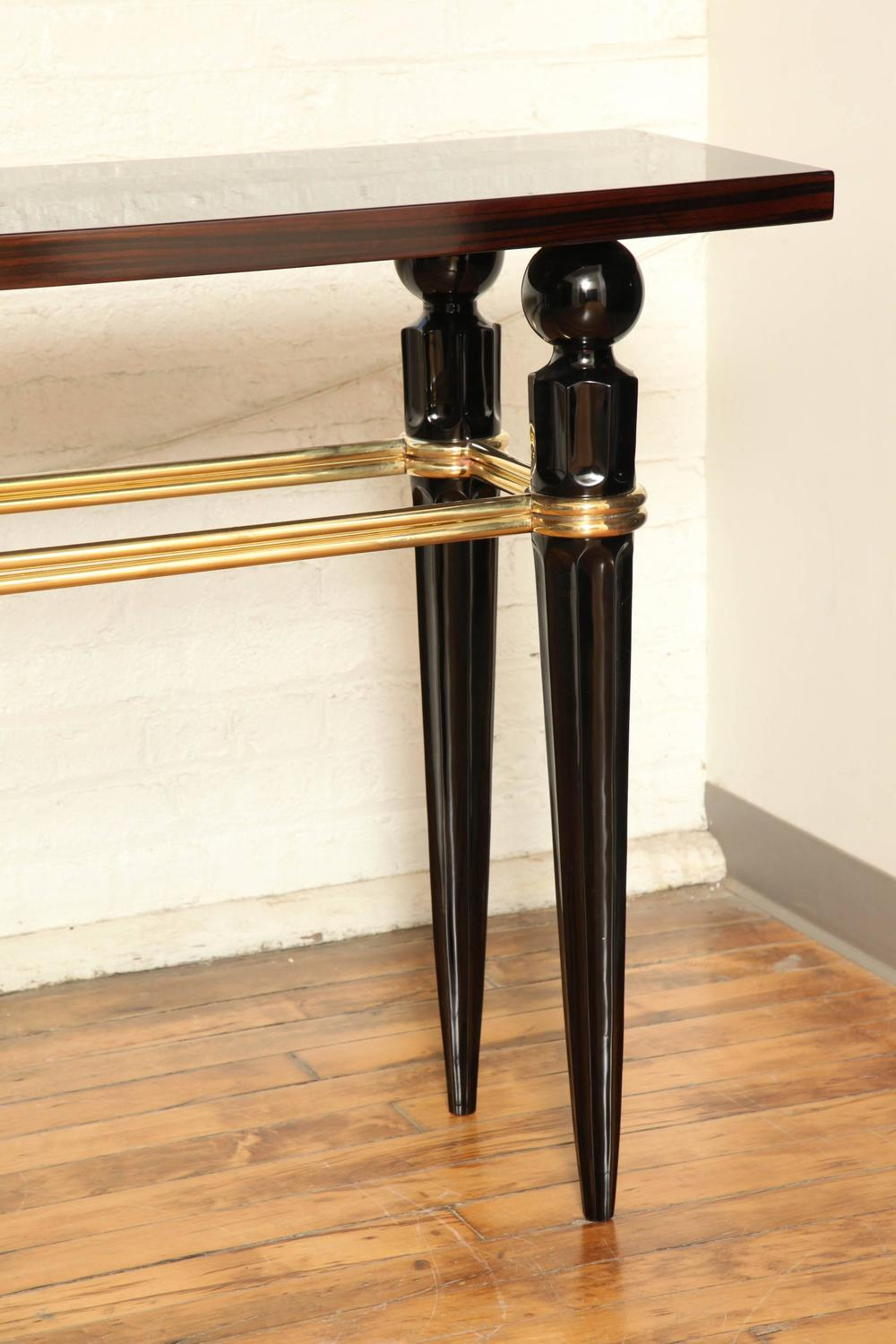 art deco console table at 1stdibs. Black Bedroom Furniture Sets. Home Design Ideas