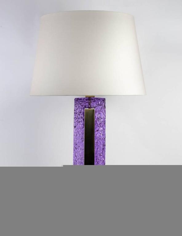 Murano glass lamps.