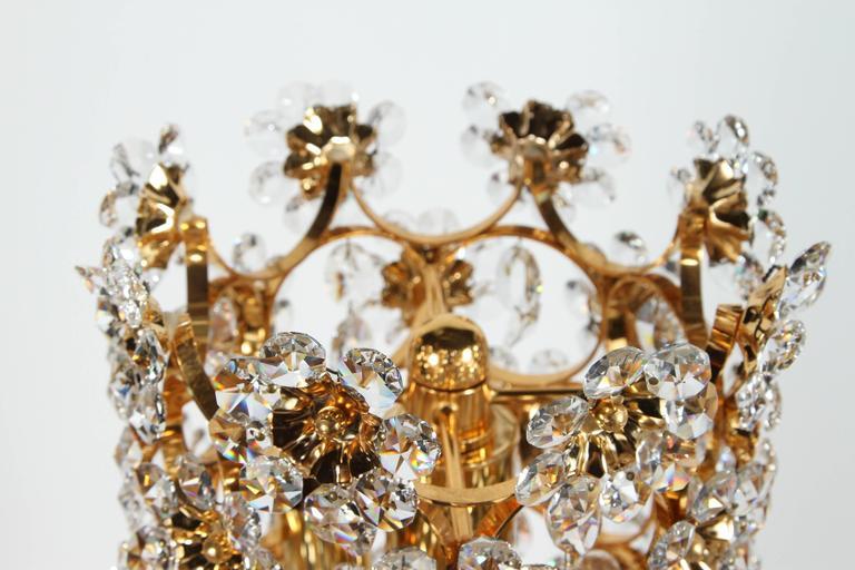Brass Mid-Century Palwa Floor Lamp For Sale